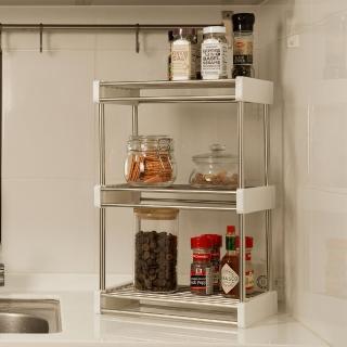 【ikloo】不鏽鋼廚房收納架/置物架