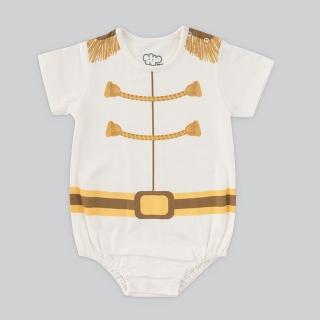 【日安朵朵】男嬰連身衣 - MIT台灣製白馬王子 短袖 不含皇冠(寶寶嬰兒包屁衣)
