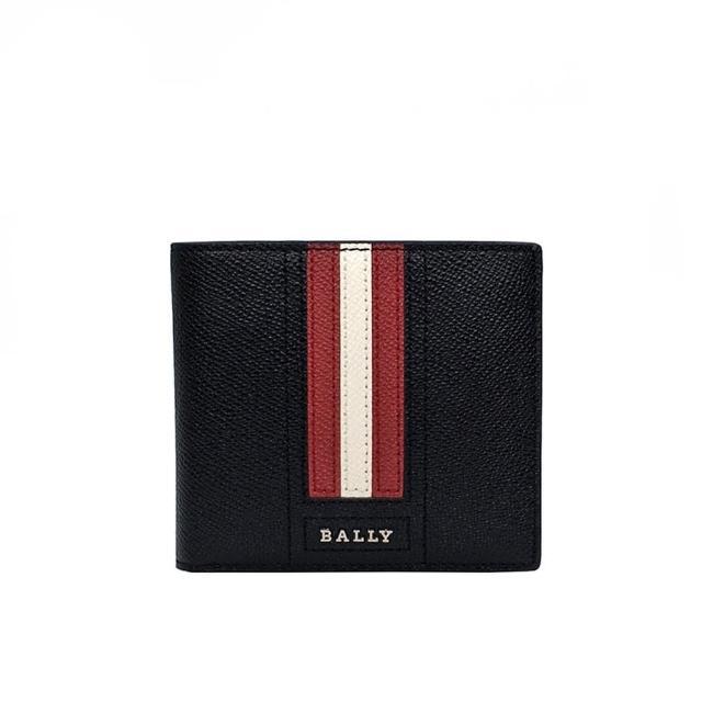 【BALLY】6218918 黑(TRASAI 防刮撞色拼接短夾)