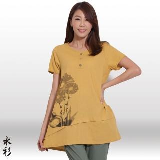 【水衫】棉麻手繪長版上衣四件組(F03-10)