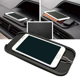 【亞克科技】日本YAC PZ-644立體凹槽皮革紋止滑墊-L(汽車|收納置物|手機架)