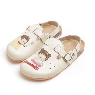 【Jingle】飛天仙女前包後空軟木休閒鞋(百搭米大人款)