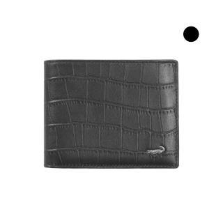 【Crocodile】經典鱷魚壓紋短夾0103-4007(義大利真皮皮革)
