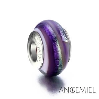 【Angemiel安婕米】925純銀珠飾 琉璃珠 紫色曼陀羅