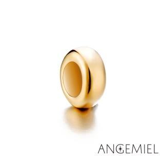 【Angemiel安婕米】925純銀珠飾 固定珠 簡約(金)