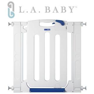 【美國 L.A. Baby】幼兒安全自動上鎖門欄/圍欄/柵欄(純白色/附贈兩片延伸件)