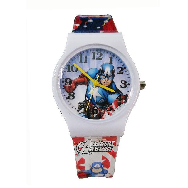 【迪士尼DISNEY】漫威美國隊長膠帶兒童錶卡通錶-英雄內戰(開學 考試 復仇者聯盟)