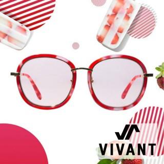 【VIVANT】韓國 果漾百匯系列大框太陽眼鏡.莓果紅(PARFAIT C5)