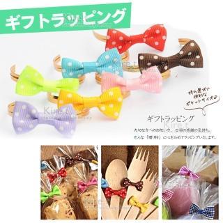 【kiret】蝴蝶結封口 束帶 包裝帶-超值50入(DIY 烘培 麵包餅乾專用 紮絲 紮線 鐵絲紮口)