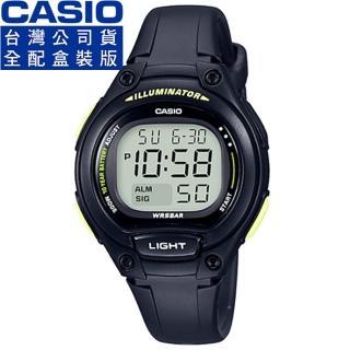 【CASIO】卡西歐鬧鈴多時區兒童電子錶-黑(LW-203-1B 公司貨全配錶盒)