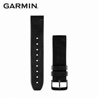 【GARMIN】Approach S60 QUICKFIT 22mm 黑色皮革錶帶