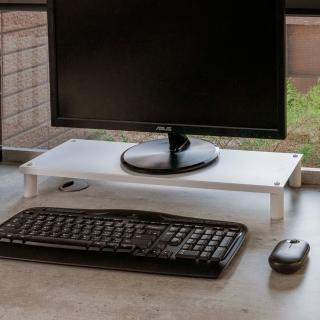 【ikloo】省空間桌上螢幕架 鍵盤架1入