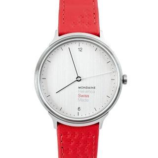 【MONDAINE 瑞士國鐵】瑞士國鐵Swiss Edition瑞士紅十字紀念錶-38mm/紅十字
