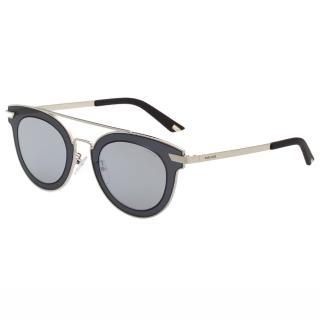 【POLICE】復古感 水銀面太陽眼鏡 PE-SPL349(藍灰)
