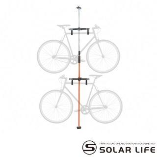 【索樂生活】SOLAR頂天立地自行單車收納架(單車展示架停車立車架腳踏車吊掛架3米可調式台灣製造)