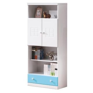 【顛覆設計】童話2.5尺粉藍雙色下抽書櫃