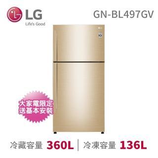 【LG 樂金】496公升◆直驅變頻上下門冰箱◆香檳金(GN-BL497GV)