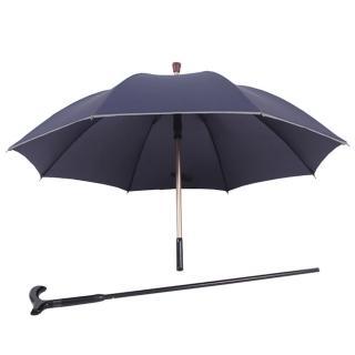 【PUSH! 好聚好傘】抽拉式管設計可單獨使用枴杖的雨傘拐杖傘登山杖(I30)