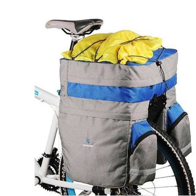 【May Shop】ROSWHEEL樂炫輕量型馱包60L自行車3合1馱包(藍灰色)