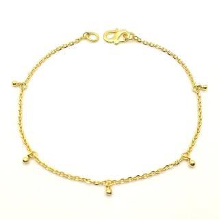 【D.M.】金珠黃金手鍊