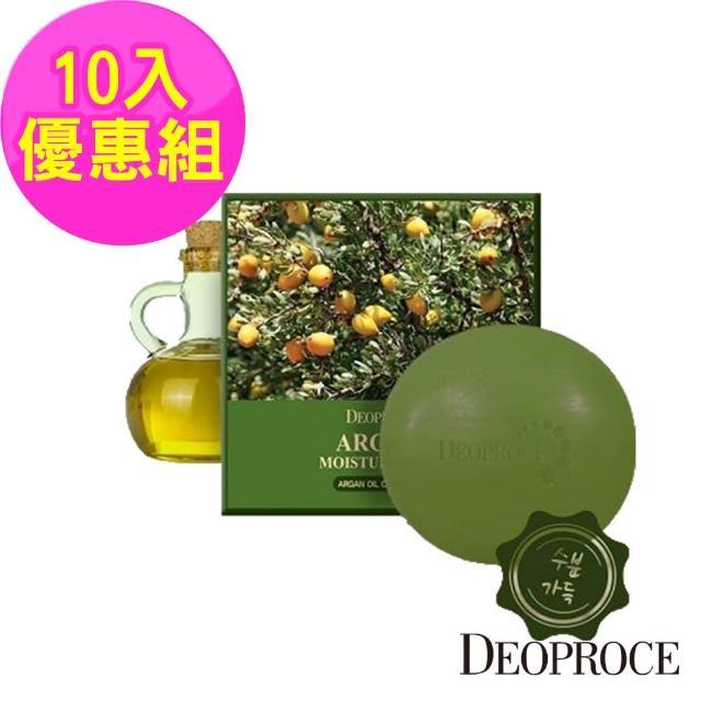 【韓國deoproce】黃金果油保濕嫩白皂100gx10入(韓國 摩洛哥 撫紋 保濕 嫩白 洗面皂)