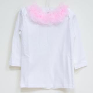【美國 Chic Baby Rose】手工雪紡純棉上衣_脖子圈圈款(長袖 / 淡粉)