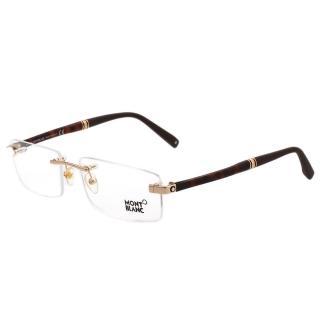 【MONTBLANC 萬寶龍】-無框光學眼鏡 MB449(金色)