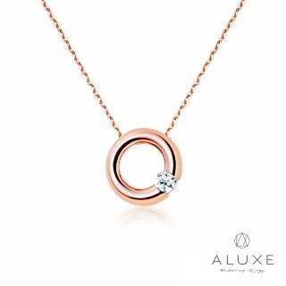 【A-LUXE 亞立詩】Petite系列 Classic甜甜圈 玫瑰金美鑽項鍊