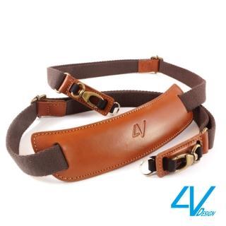 【4V Design】LUSSO LARGE TOP系列相機背帶VB2LTL23-棕/棕色