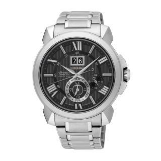 【SEIKO 精工】Premier 經典萬年曆人動電能時尚腕錶(7D56-0AE0D/SNP141J1)