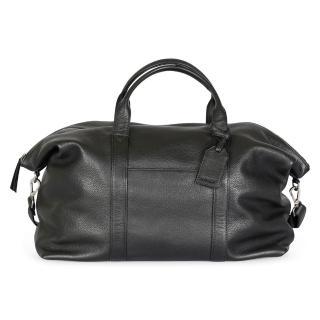 【MARKBERG】Isa 丹麥手工牛皮率性大旅行包 斜背包/手提包(極簡黑)