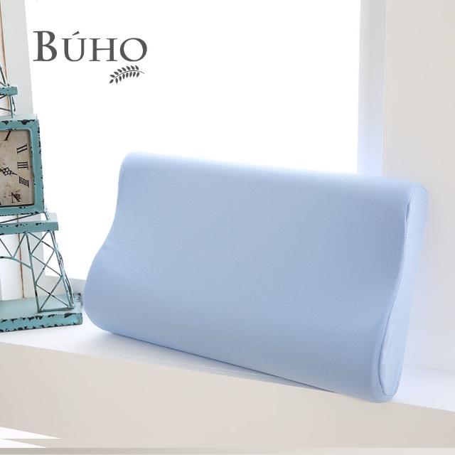 【BUHO布歐】吸濕排汗人體工學型竹炭記憶枕(10cm/1入)/