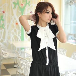 【Lady c.c.】爵色宮廷品味紗質連身褲裝(黑)