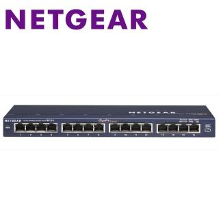 【Netgear】GS116 16埠Giga無網管型交換器