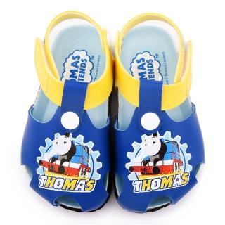 【童鞋城堡】湯瑪士 中小童 護趾款軟木風格涼鞋(TH43029-藍)