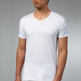 【三槍牌】時尚型男純棉短袖圓領汗布衫(白4件組)