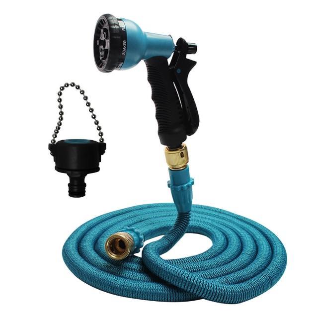 【Effect】第八代高壓一體式8段彈力伸縮水管(7.5公尺萬用轉接頭)