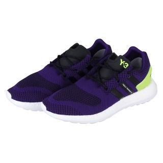 【Y-3山本耀司】PURE BOOST ZG KNIT 黑紫編織設計慢跑鞋(黑+紫)