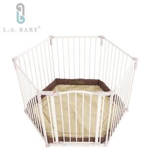 【L.A. Baby】遊戲圍欄/護欄 兒童圍欄/護欄 安全圍欄/護欄 寵物圍欄護欄(贈遊戲墊)