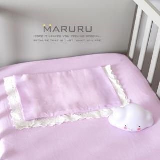 【MARURU】日本製嬰兒床單 木槿紫 70x120(日本製嬰兒寶寶baby床單/適用台式60x120/日式70x120嬰兒床墊)