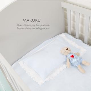 【MARURU】日本製嬰兒床單 嬰兒藍 70x130(日本製嬰兒寶寶baby床單/適用70x130嬰兒床墊)