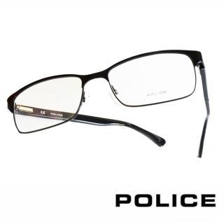 【POLICE】義大利警察都會款個性型男眼鏡(POV8797M531X  霧黑)