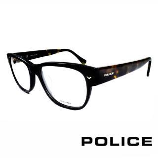 【POLICE】義大利警察都會款個性型男眼鏡(POV1765M703X -黑綠)