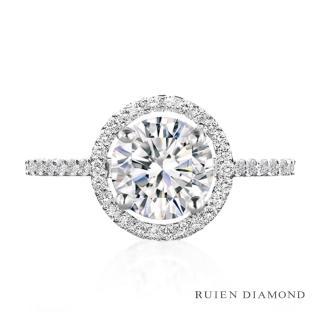 【RUIEN DIAMOND】GIA50分 D VVS1 3EX(18K白金 鑽石戒指)