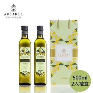 【AUGANIC 澳根尼】澳洲原裝特級冷壓初榨橄欖油 500ml(2入禮盒組)