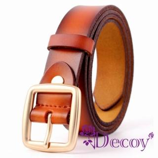 【Decoy】簡約中性*雙層真牛皮腰帶/4色可選