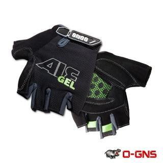 【O-GNS】Air Gel 半指式氣墊手套(黑/綠)