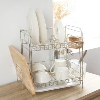 【完美主義】不鏽鋼雙層萬用碗盤架/瀝水架/收納架