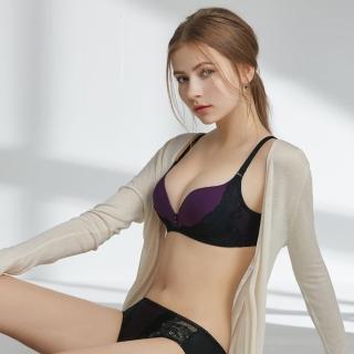 【瑪登瑪朵】Soft Up 無鋼圈 內衣  B-E罩杯(迷幻紫)