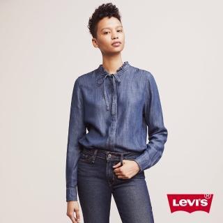 【LEVIS】牛仔襯衫 女裝 / 綁帶蝴蝶結 / 淺色